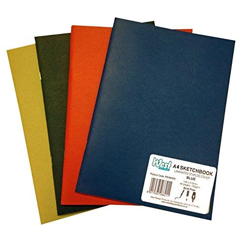 West 264996 A4 140 GSM Sketchbook - Matt Assorted Colours (140gsm Matt)
