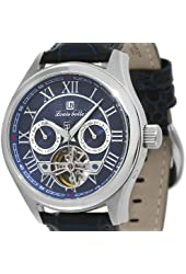 Automatic Multi-Function Blue Leather Strap/Blue-Silver Dial
