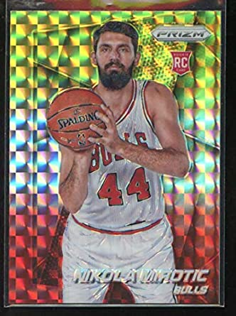 6afa717fe Nikola Mirotic 2014-15 Panini Prizm Prizms Yellow and Red Mosaic  300  Basketball Bulls