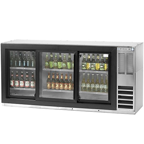 Beverage Air BB78GF-1-S Three-Section Refrigerated Food Rated Back Bar Storage Cabinet 78