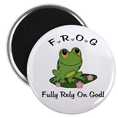 (CafePress - FROG Fully Rely On God Magnet - 2.25