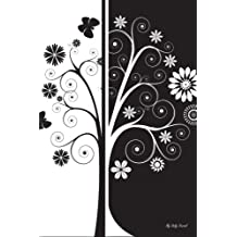 My Daily Journal: Black And White With Floral, Lined Journal, 6 x 9, 200 Pages