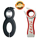 Kitchen Aid Bottle Can and Jar Opener Multi Kitchen Tool Bundle Rheumatoid Arthritis Products Aids Twister Grip Lid Seal Remover Lid Twist Off For Arthritic Hands Kitchen Gadgets and Tools Set
