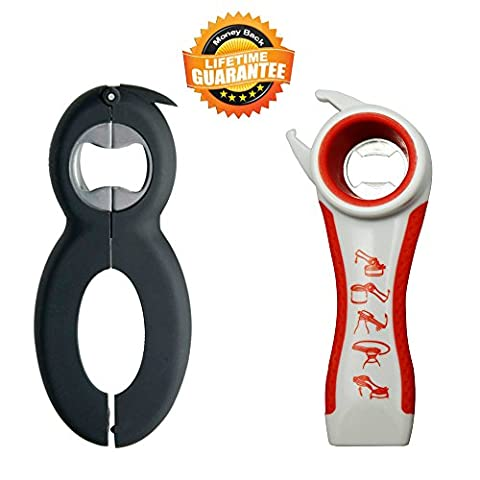 Bottle Can and Jar Opener Multi Kitchen Tool Bundle Rheumatoid Arthritis Products Aids Twister Grip Lid Seal Remover Lid Twist Off For Arthritic Hands Kitchen Gadgets and Tools - One Bottle Opener