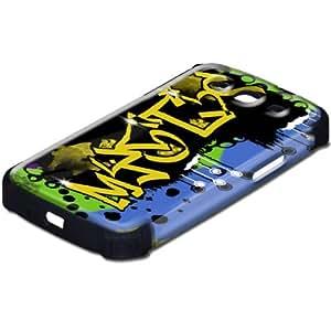 Grafiti 10073, Design Negro Caso Carcasa Funda de Silicona Hybrid Armor Protección Case Cover con Diseño Colorido y Protector De Pantalla para Samsung S3 i9300.