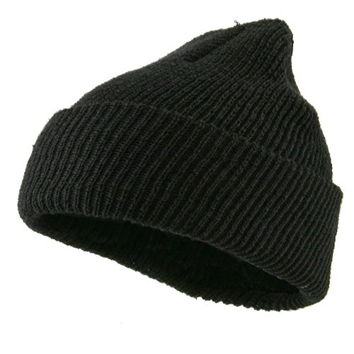 Military Wool Cuff Beanie - Black OSFM at Amazon Men s Clothing store   Skull Caps 8fc0b9ea751