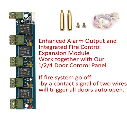 (Enhanced Alarm Module Fire Control Expansion Panel for Access Control Board Meet USA Fire Code Requirement)