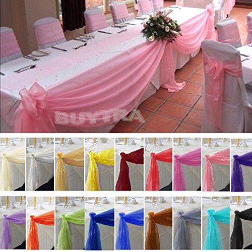 Tablecloth With Skirt - 5 Colors 1pc 5mx0.5m Organza Swag Decoration Table Swags Sheer Fabric Diy Wedding Party Bow - Tableware Party Disposable Disposable Party Tableware Fabric Tabl Cloth -