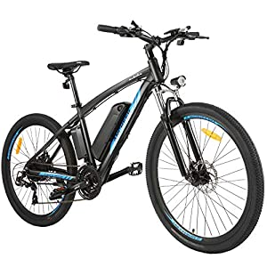 ANCHEER Electric Bike, 48V 500W 27.5″ Commuter Electric Bike with Removable 48V 10Ah Battery and 21 Speed Gears