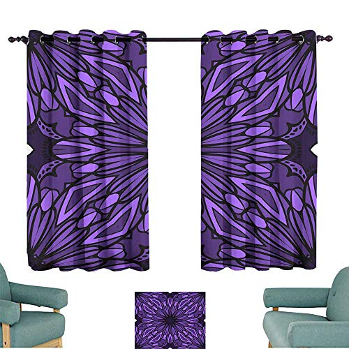 Warm Family Fashion Curtain Seamless Art Deco Floral Pattern with Modern Style Ornament on Color Background for Wallpaper Cover Book Fabric scrapbooks Darkening and Thermal Insulating