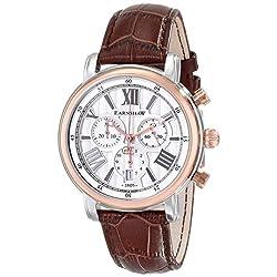 Thomas Earnshaw Men's ES-0016-06 Longcase Analog Display Swiss Quartz Brown Watch