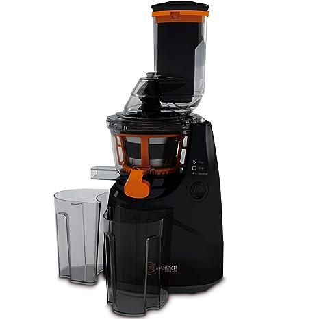 Mastercheff Licuadora de prensa fría para frutas y verduras. Extractor de jugo con canal XL