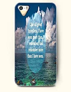 Case For Htc One M9 Cover OOFIT Phone Hard Case ** NEW ** Case with Design Like All Great Travellers, I Have Seen More Than I Remember, And Remember More Than I Have Seen- Ocean And Sky - Case For Case For Htc One M9 Cover