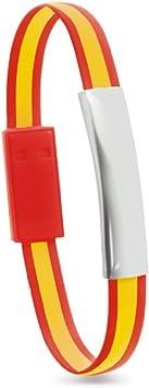 Pulsera Bandera de España Cable USB Type C, Cable Cargador: Amazon.es: Electrónica