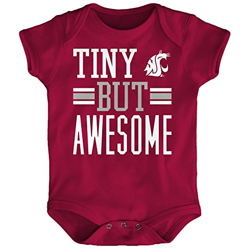 Florida State Onesie - OuterStuff NCAA Washington State Cougars Infant Tiny But Awesome Short Sleeve Onesie, Dark Red, 18 Months