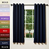 Cheap RUYI Solid Thermal Insulated Blackout Extra Wide Curtain Panel Room Divider Antique Bronze Grommet Eyelet Navy 150Wx84L Inch (1 Panel)