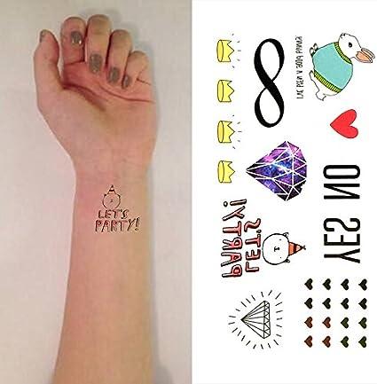 Oottati Pequeño Lindo Tatuaje Temporal Corazón De Conejo Sí No ...