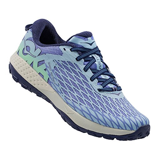 Hoka One One Women's Speed Instinct Trail Running Sneaker Shoe (7.5, Persian Jewel / Spring Bud) by Hoka One