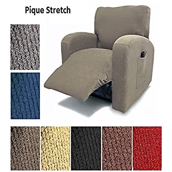 Orlys Dream Pique Stretch Fit Furniture Chair Recliner Lazy Boy Cover Slipcover Many Colors Available (Brown)
