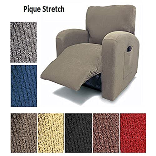 Orlyu0027s Dream Pique Stretch Fit Furniture Chair Recliner Lazy Boy Cover  Slipcover Many Colors Available (Burgundy)