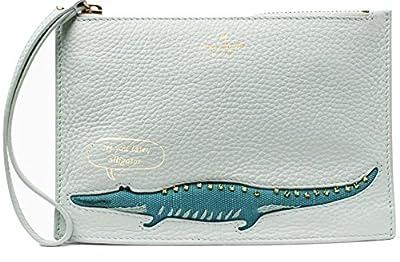 Kate Spade Alligator Mini Leather Wristlet Misty Mint On Purpose