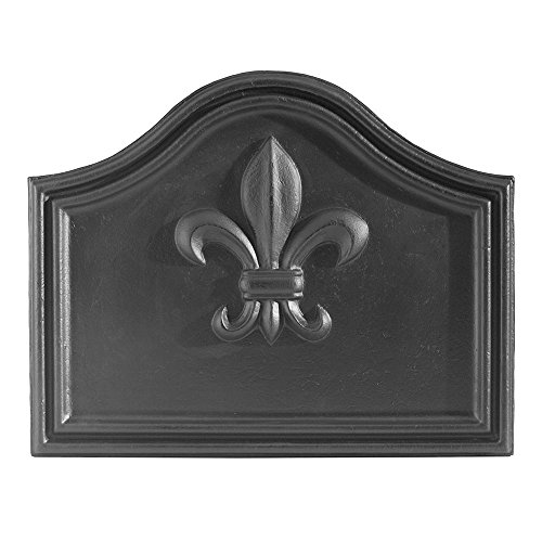 Minuteman International Fleur De Lys Cast Iron Fireback by Minuteman International