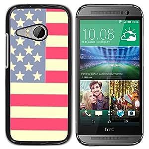 iKiki Tech / Estuche rígido - Flag Stars Stripes Red White Blue - HTC ONE MINI 2 / M8 MINI