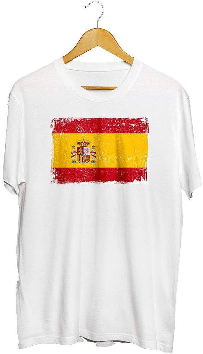 TEMADIGITAL Camiseta Bandera de España Tipos - Camisetas españolas Pemium: Amazon.es: Ropa y accesorios