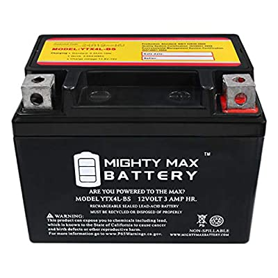 Mighty Max Battery YTX4L-BS Replacement for BikeMaster BTX4L-BS 781306 Brand Product: Home Audio & Theater