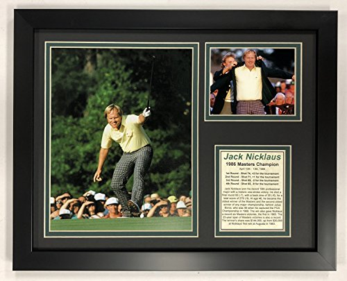 (Legends Never Die PGA Jack Nicklaus 1986 Masters Champion Framed Double Matted Photos, 12
