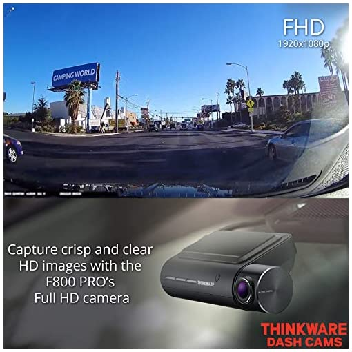 Thinkware F800 PRO Dash Cam Full HD 1080p Front and Rear Car Camera Dashcam – Super Night Vision 2.0, Includes 32GB SD… Amazon choices