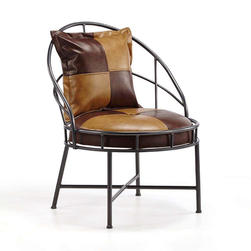 Stabilité et sécurité QFF Vintage Bar Chaise, Continental Lounge Chair  Ménage PU Fauteuil Salon Balcon Canapé Chaise Table Basse Petite Table À  Manger Iron ... 9cdd87c4e404
