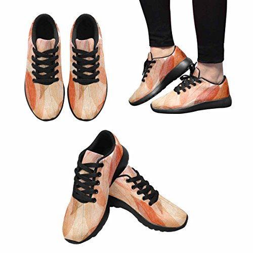 Interestprint Beautiful Leaves Womens Jogging Running Sneaker Leggero Andare A Piedi Scarpe Comode Multi 1