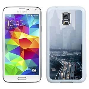 NEW Unique Custom Designed Samsung Galaxy S5 I9600 G900a G900v G900p G900t G900w Phone Case With Rainy Day New York Traffic_White Phone Case