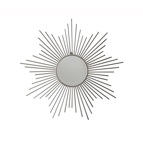 Cheung's FP-4318 Metal Sunburst Silver Mirror, Silver by Cheung's