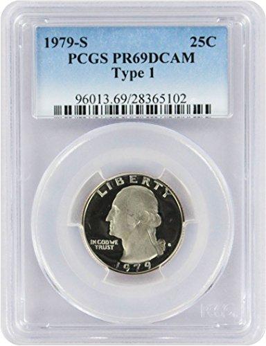 1979 S Type 1 Proof Washington Quarter New Blue Label Holder Quarter PR 69 DCAM PCGS (Washington Quarter Type)