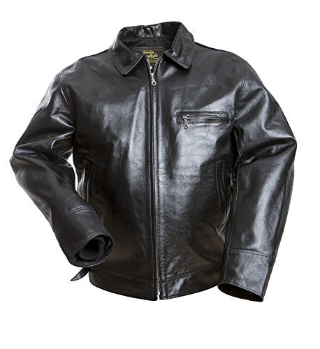 8e9d79154d4 Noble House Men s 100% Real Leather Jacket Highway Horsehide Black ...