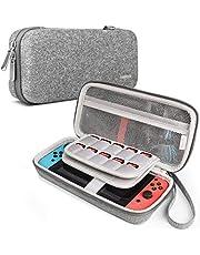 Inateck Étui Compatible avec Nintendo Switch Console, 20 Jeux, Joy Con et Accessoires, Housse Protection de Transport/Voyage Rigide Feutré Antichoc Compatible avec Nintendo Switch, Coque Portable