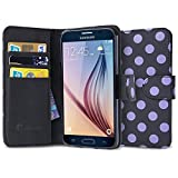 Galaxy S6 Case, [Wallet Case] i-Blason **KickStand** Samsung Galaxy S6 Case [Kickstand] Leather Cover with Credit Card ID Holders (Black Dalmatian)