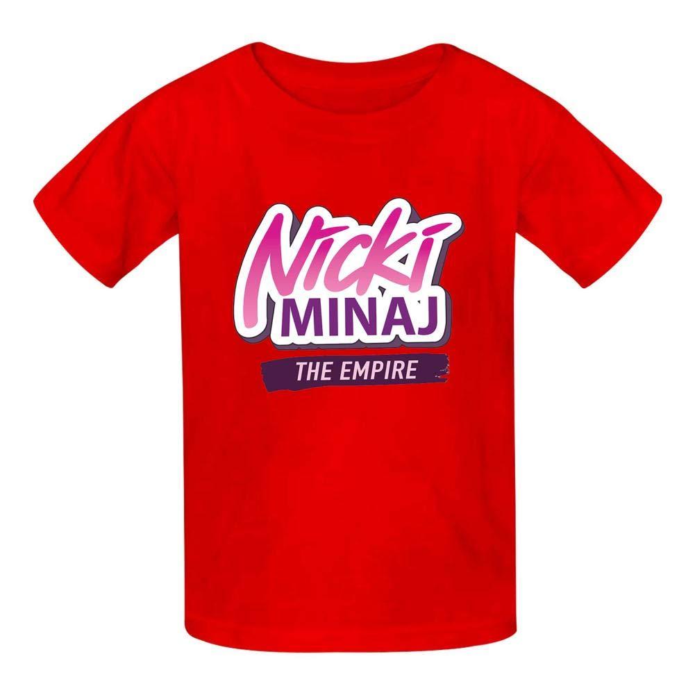 NVT NA Nicki-Minaj-Logo Kids Tee Short Sleeve Round Neck Boys Girls 100/% Cotton T-Shirt