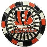 Cincinnati Bengals Peter NFL David Orange & Black Poker Chip Metal Lapel Pin