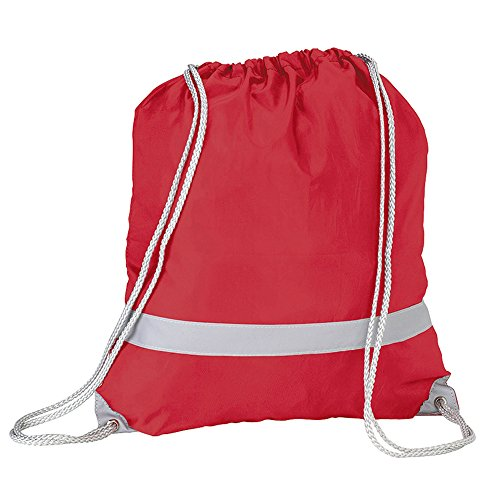 7 High 2 Daypack Pack Reflective eBuyGB Rucksack Red Visibility L Drawstring of Yellow Casual 5 xTwPwUH