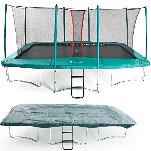 Skyhigh 10 Foot X 17 Foot Rectangular Trampoline With