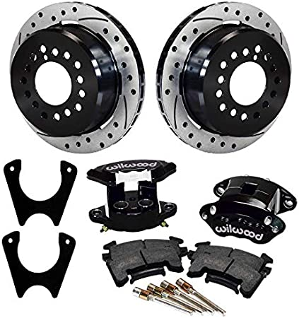 NEW REAR BRAKE ROTOR,WELD-ON BRACKET,/& GM METRIC CALIPER SET WITH PADS /& BOLTS
