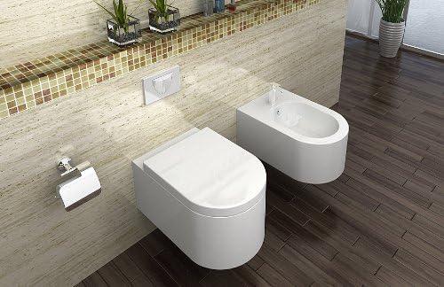 Wei/ß Lux-aqua CT2044A Wand H/änge Toilette