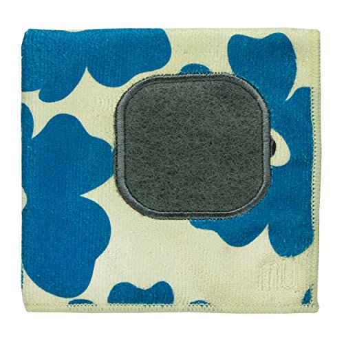 UPC 811700012367, MUkitchen Microfiber Dishcloth With Built-In Scrubber, 12 by 12-Inches, Blue Poppy