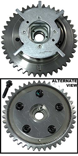 APDTY 028361 Camshaft Phaser VVT Variable Valve Timing Cam Sprocket Gear & Bolt Fits 2004-2011 Expedition Explorer Lobo Mustang F150 F250 F350 Pickup Navigator Mark LT Mountaineer 5.4L 24 Valve Engine