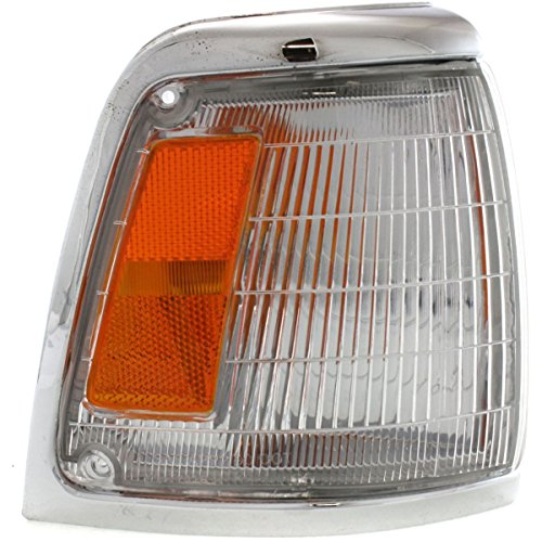 DAT AUTO PARTS Parking Light Assembly Replacement for 92-95 Toyota Pickup RWD Chrome Trim Corner of Fender Right Passenger Side TO2521129