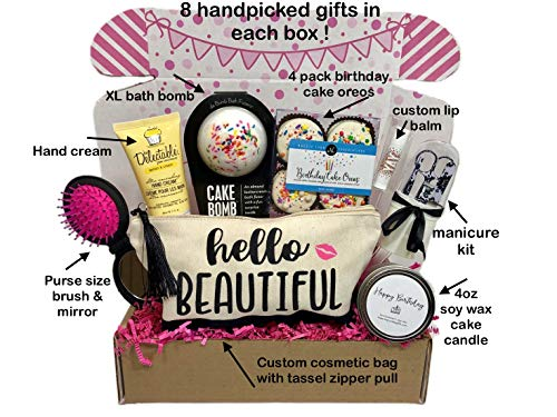 Women's Birthday Gift Box Set 8 Unique Surprise Gifts For Wife, Aunt, Mom, Girlfriend, Sister from Hey, It's Your Day…