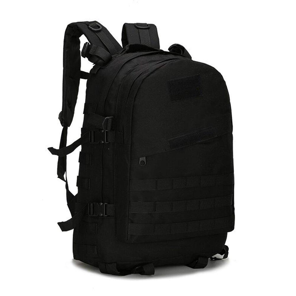 Leoie Unisex 3d Pubg Level 3 Double Shoulder Nylon Camouflage Black